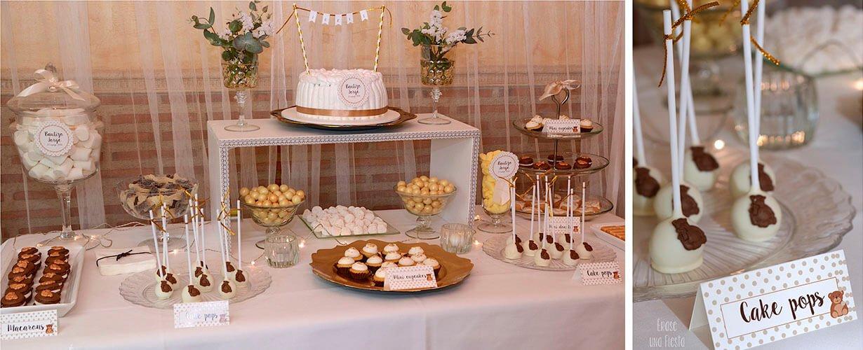 Mesa dulce Bautizo de Jorge por Erase una fiesta
