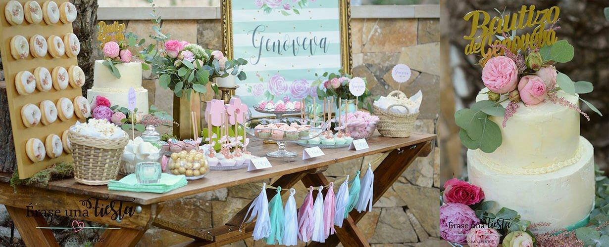 Mesa dulce bautizo Genoveva