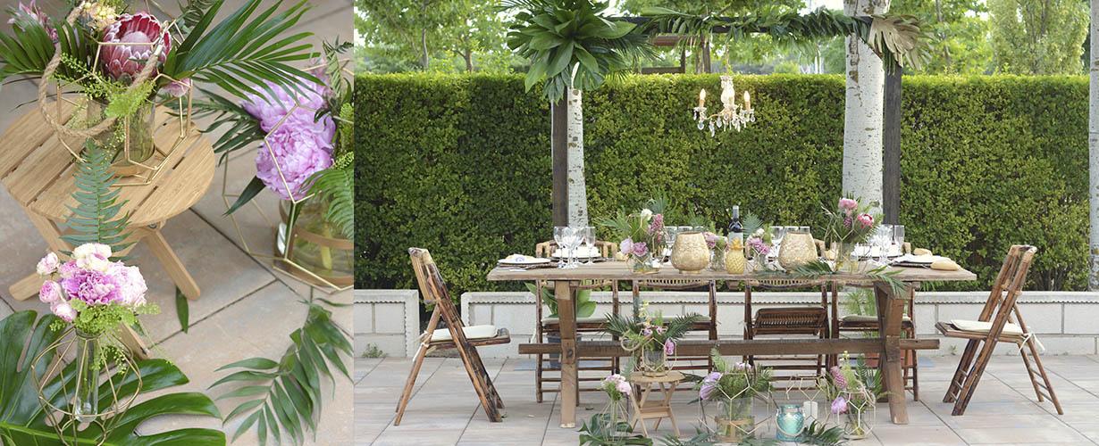 mesa nupcial boda tropical sandra y pedro