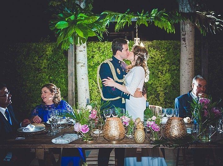 La boda con aires tropicales de Sandra y Pedro